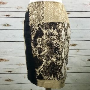 Elie Tahari Snakeskin Pencil Skirt Animal Print